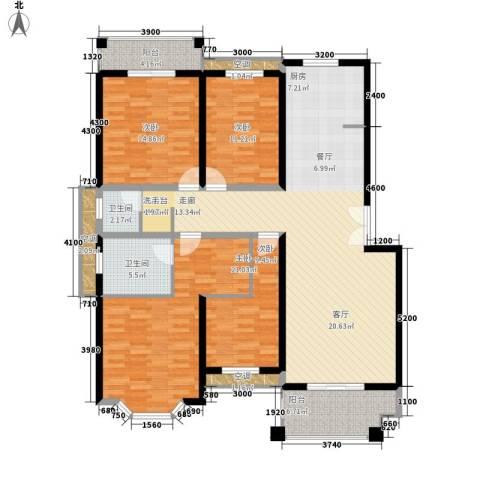 长房西郡4室0厅2卫0厨184.00㎡户型图