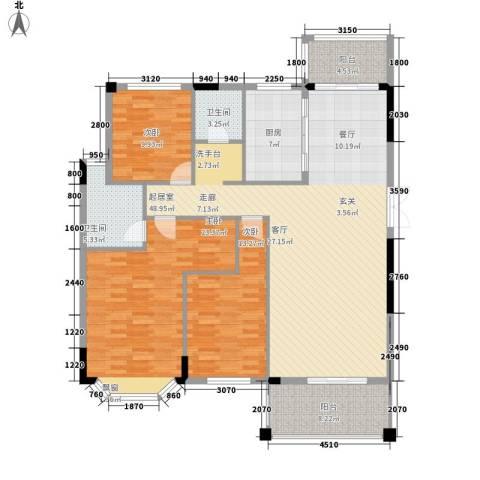 长房西郡3室0厅2卫1厨137.00㎡户型图