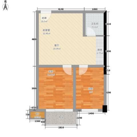 天济山庄2室0厅1卫0厨71.00㎡户型图