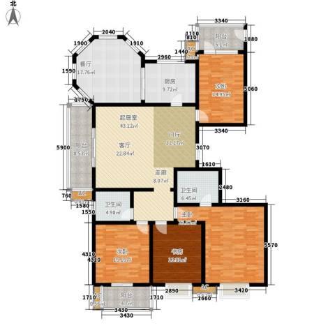 天泽大厦4室1厅2卫1厨244.00㎡户型图