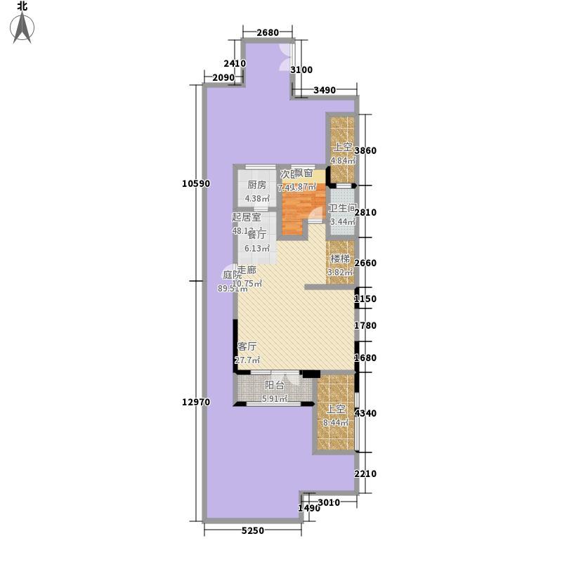 路劲城193.82㎡花园洋房Y1一层图户型