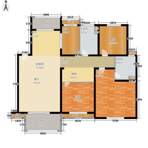 融科檀香山3室0厅2卫1厨201.00㎡户型图