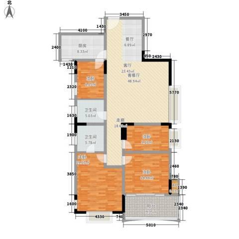 天泽大厦4室1厅2卫1厨147.00㎡户型图