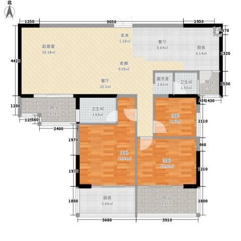 沃邦菁华源3室0厅2卫1厨140.00㎡户型图