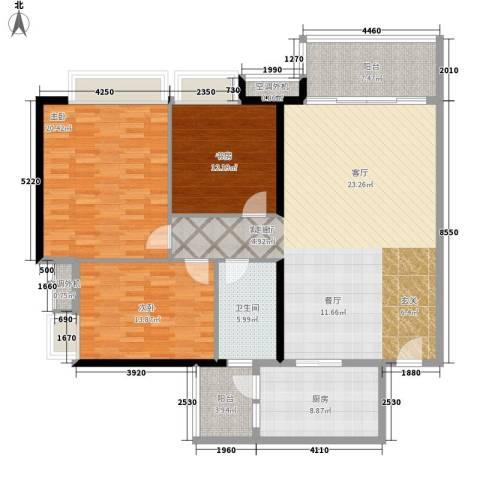 地税五分局宿舍3室1厅1卫1厨135.00㎡户型图