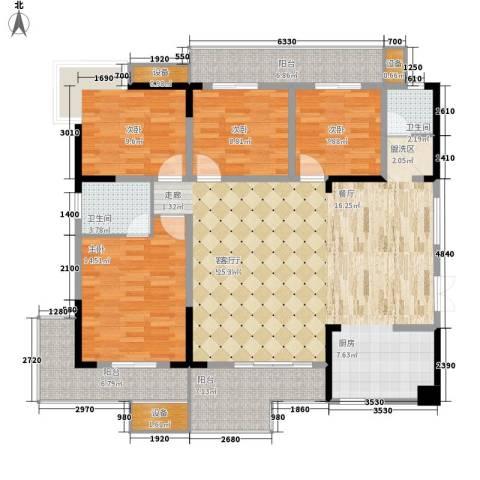 万里江山4室1厅2卫0厨146.00㎡户型图