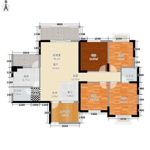 沃邦菁华源4室0厅2卫1厨156.00㎡户型图