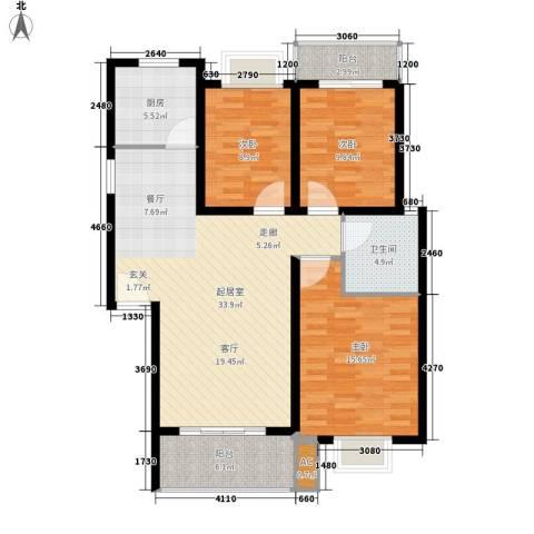 丽江翠园3室0厅1卫1厨101.00㎡户型图