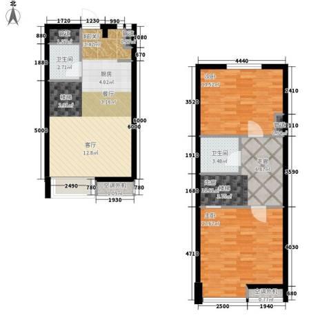枫景国际公寓2室1厅2卫0厨77.84㎡户型图
