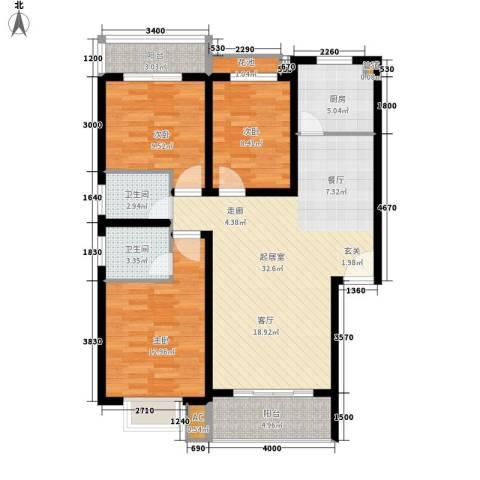 丽江翠园3室0厅2卫1厨100.00㎡户型图