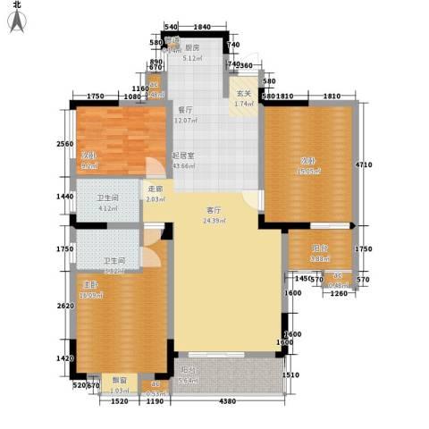 华侨村3室0厅2卫0厨117.00㎡户型图