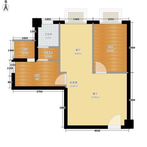 汀兰雅苑1室0厅1卫1厨49.23㎡户型图