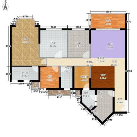 祈福新村活力花园4室1厅2卫1厨148.00㎡户型图