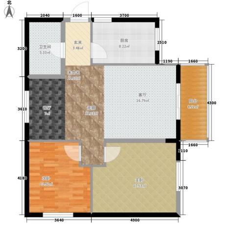 东方广场2室0厅1卫1厨98.00㎡户型图