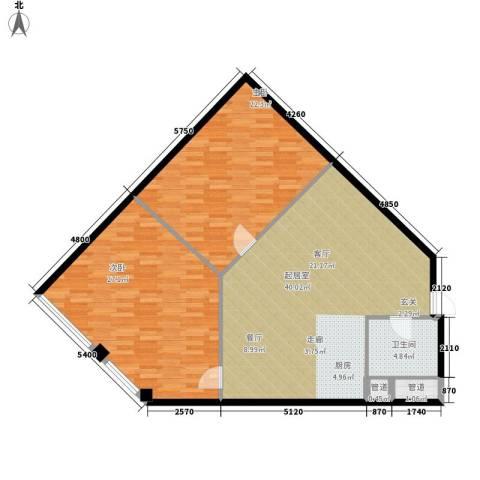 五一新干线2室0厅1卫0厨136.00㎡户型图