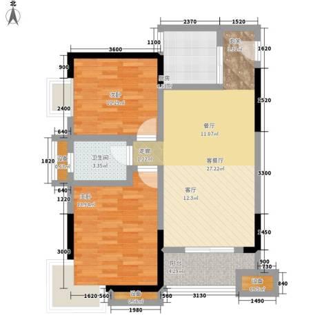 西点公园里2室1厅1卫1厨97.00㎡户型图
