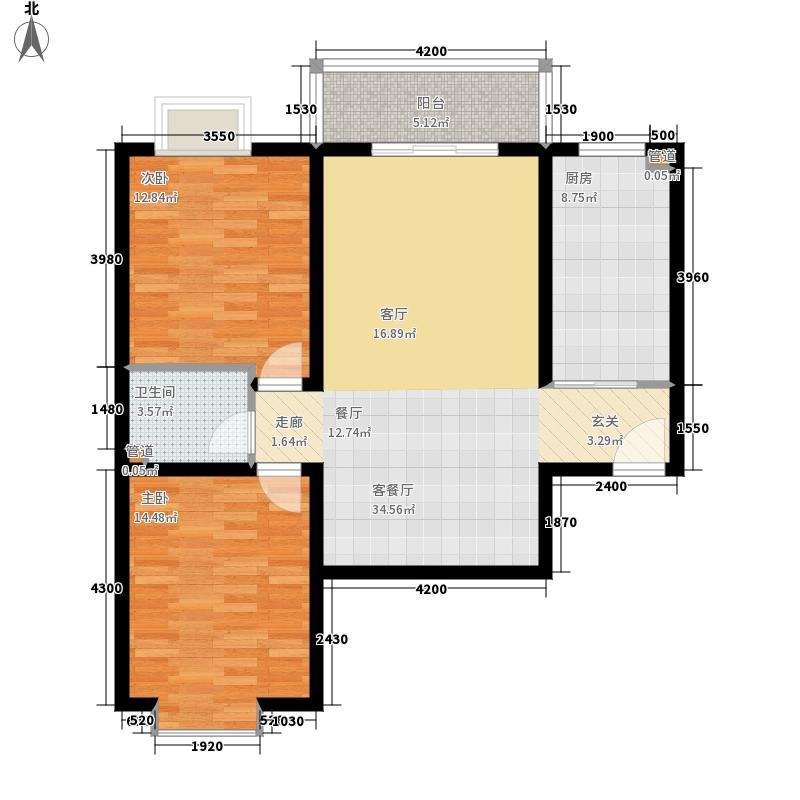 汇鑫花园104.36㎡3号楼A面积10436m户型