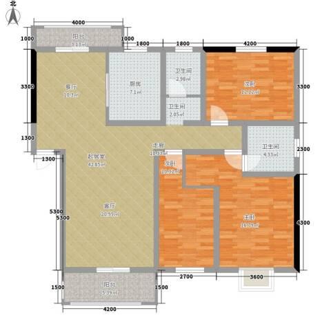 汇城上筑3室0厅2卫1厨120.23㎡户型图