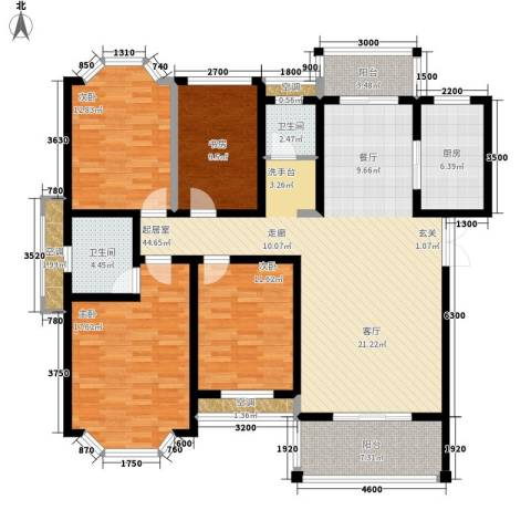 长房西郡4室0厅2卫1厨144.00㎡户型图