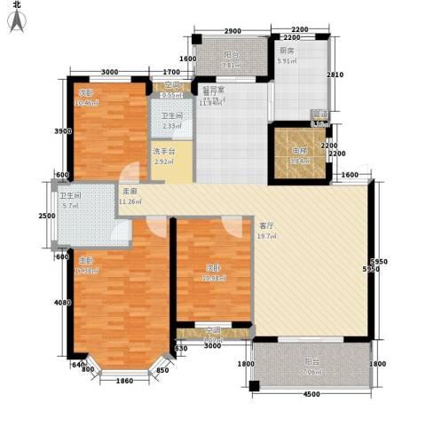 长房西郡3室0厅2卫1厨130.00㎡户型图