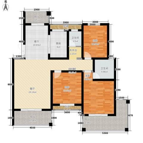 玛依拉山庄3室0厅2卫1厨135.00㎡户型图
