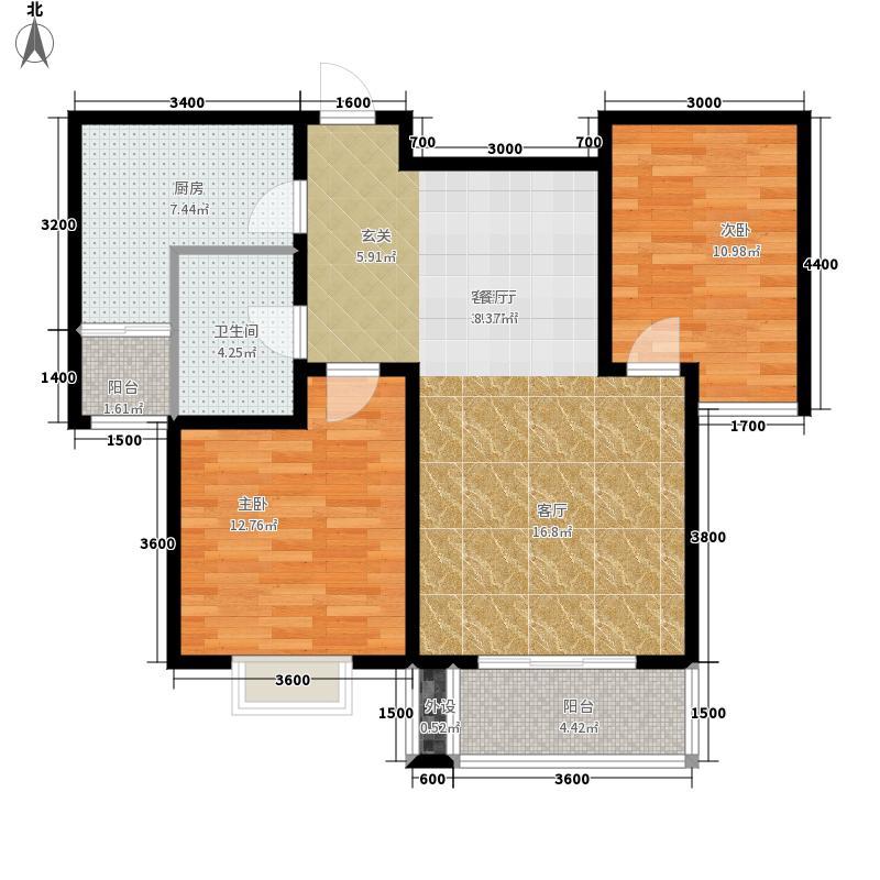 藏龙福地95.27㎡已售完1面积9527m户型