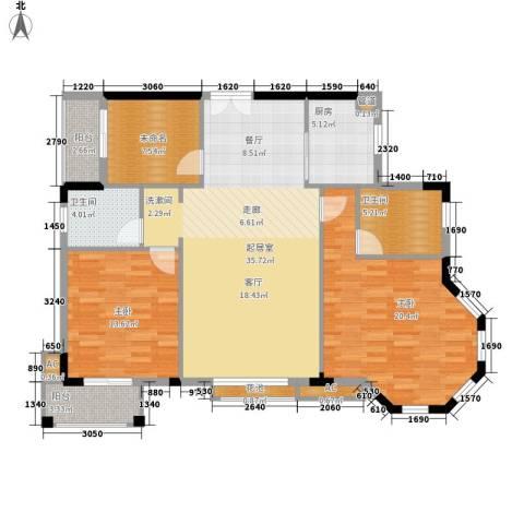 香海西岸2室0厅2卫1厨110.00㎡户型图