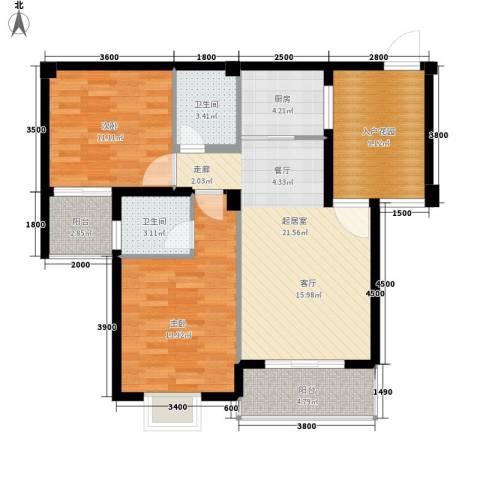 东方领秀2室0厅2卫1厨106.00㎡户型图