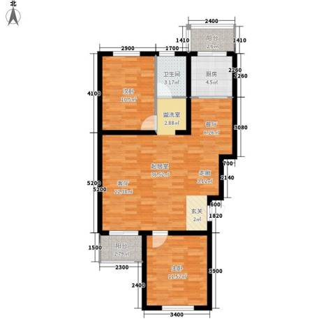 文馨花园2室0厅1卫1厨99.00㎡户型图