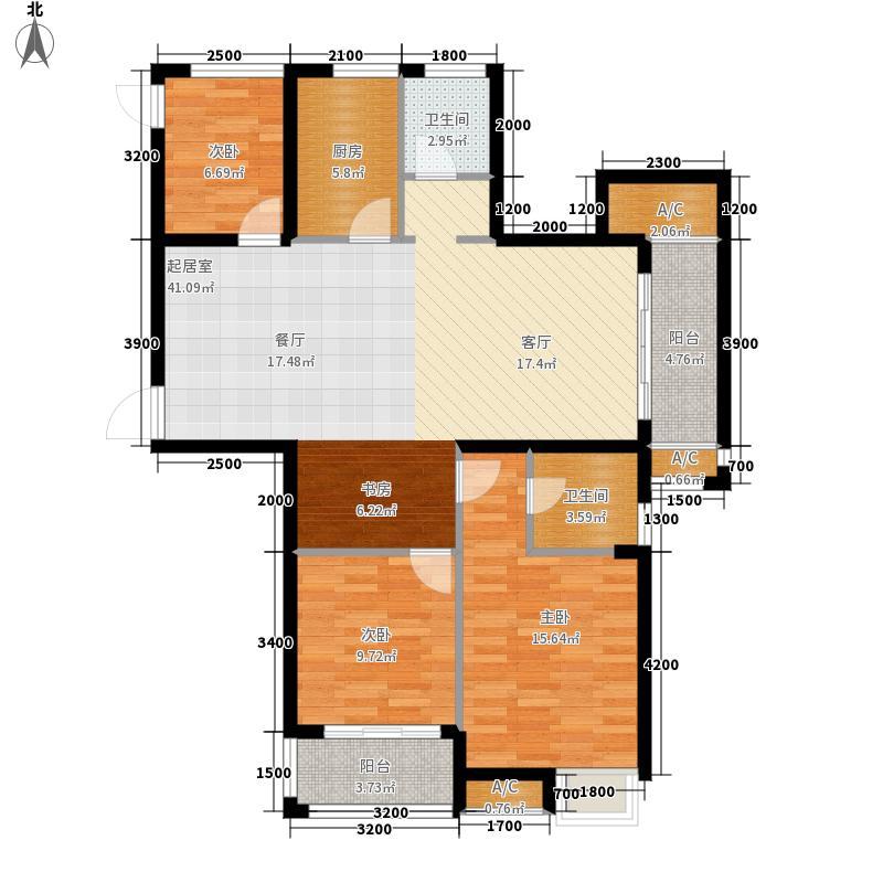 广厦天都城紫韵公寓117.00㎡E1户型4室2厅
