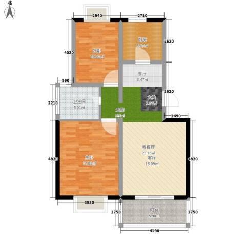 彩云郡2室1厅1卫1厨84.00㎡户型图