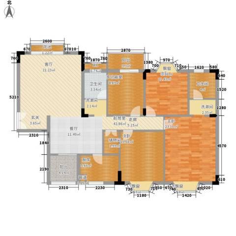 香海西岸3室0厅2卫1厨140.00㎡户型图