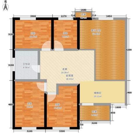麓山恋迪亚溪谷4室0厅1卫0厨301.00㎡户型图