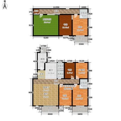 水云间蓝湾6室1厅3卫1厨255.00㎡户型图
