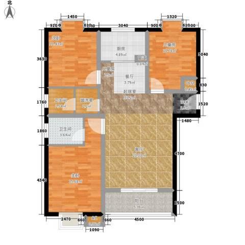 天慧国际3室0厅2卫1厨127.00㎡户型图