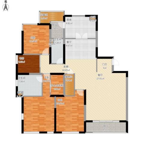仁恒森兰雅苑二期4室1厅2卫1厨211.00㎡户型图