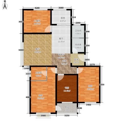 水云间蓝湾4室1厅2卫1厨148.00㎡户型图