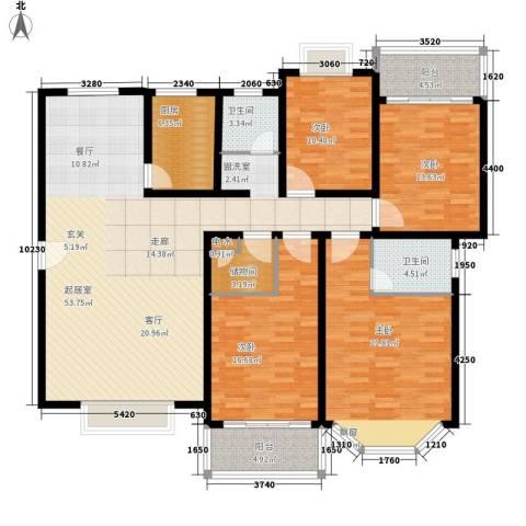 今利园4室0厅2卫1厨163.00㎡户型图