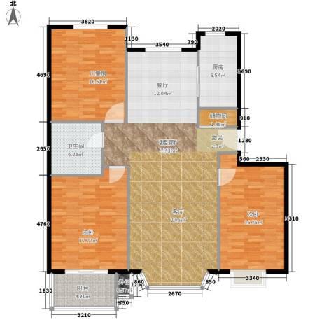 水云间蓝湾3室1厅1卫1厨129.00㎡户型图