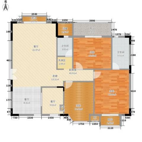 香海西岸3室1厅2卫0厨120.00㎡户型图