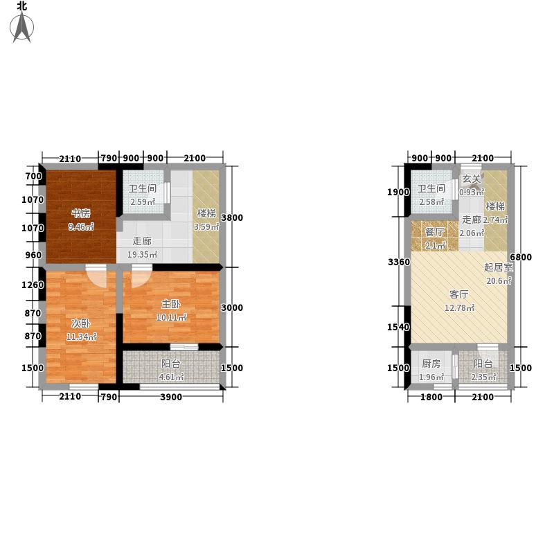 广天国际公寓43.66㎡D1面积4366m户型