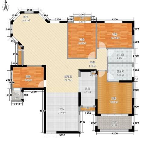 沁园春御院4室0厅2卫0厨171.00㎡户型图