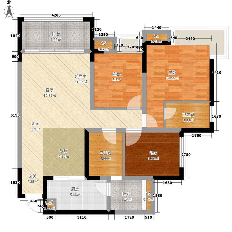 汇融悉尼湾110.28㎡5号楼E4面积11028m户型