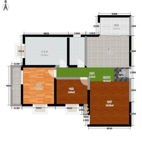 飞天花园小区2室0厅1卫1厨122.00㎡户型图