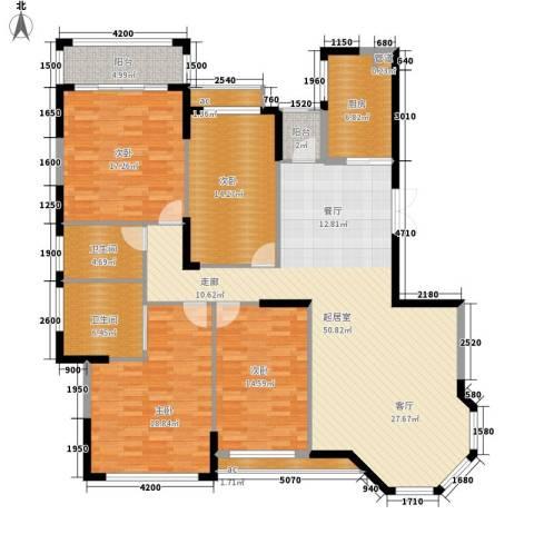 沁园春御院4室0厅2卫1厨180.00㎡户型图