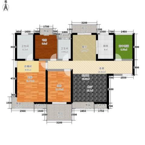 紫薇曲江意境3室0厅2卫1厨149.00㎡户型图
