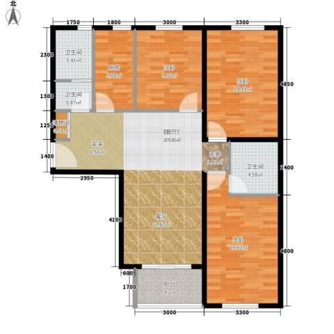 丽水花园3室1厅3卫1厨126.00㎡户型图