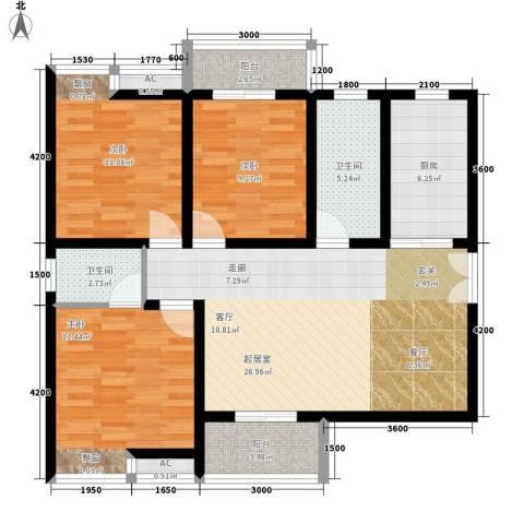 柏林春天3室0厅2卫1厨111.00㎡户型图