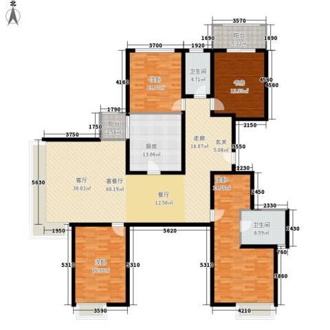 水半湾4室1厅2卫1厨213.00㎡户型图