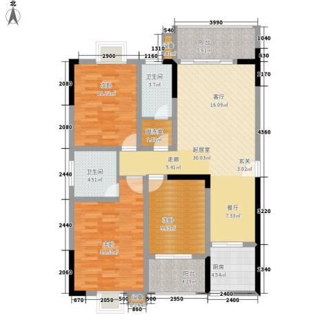 西源鑫大厦3室0厅2卫1厨138.00㎡户型图
